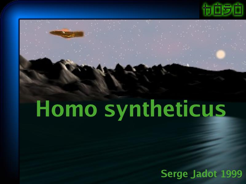 Couverture du roman Homo syntheticus